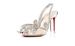 Free shipping 2013 Au Hameau Strass Sexy Sandals 100mm Transparent PVC Crystal Wedding Dress Shoes Stilettos heel Prom Shoes(China (Mainland))