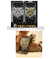 Free shipping-5pcs/set kawaii Alloy fully-jewelled leopard head Diy phone cover Accessories,phone decoration accessories