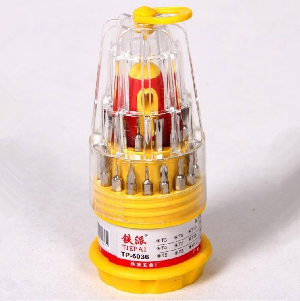 Free shipping 100% Brand New 31 in 1 screwdriver set Precision Torx Tools Screwdriver Magnetic screwdriver head(China (Mainland))