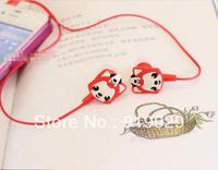 Free Shipping (5 Pieces/Lot) Cute Cartoon Ali 3.5mm In-ear Earbuds Earphone Headphone Earpiece For MP3 MP4