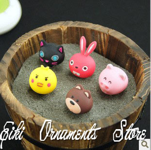 5 piece new design 3.5CM small animals phone charm dust plug free shipping(China (Mainland))