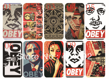 new skin design obey case hard back cover for iphone 4 4s bulk 10PCS/lot cases+free shipping