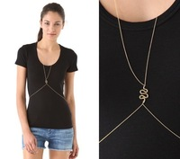 HOT 18K gold sanke pendant necklace fashion brand body necklace free shiping ,Min order $15