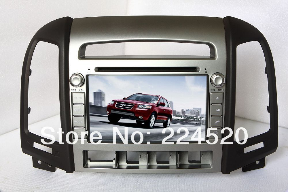 7&quot; In Dash Car DVD Player for Hyundai Santa Fe 2006-2012 with GPS Navigation Bluetooth TV USB Auto Radio Audio(China (Mainland))