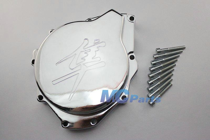 Frete Grátis para Suzuki Hayabusa GSXR 1300 99-08 lingotes de alumínio do estator do motor Tampa Chrome(China (Mainland))