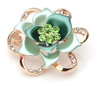 2013new GREEN  flower Rhinestone high quality brooch/corsage  freeshipping with Min.order$10