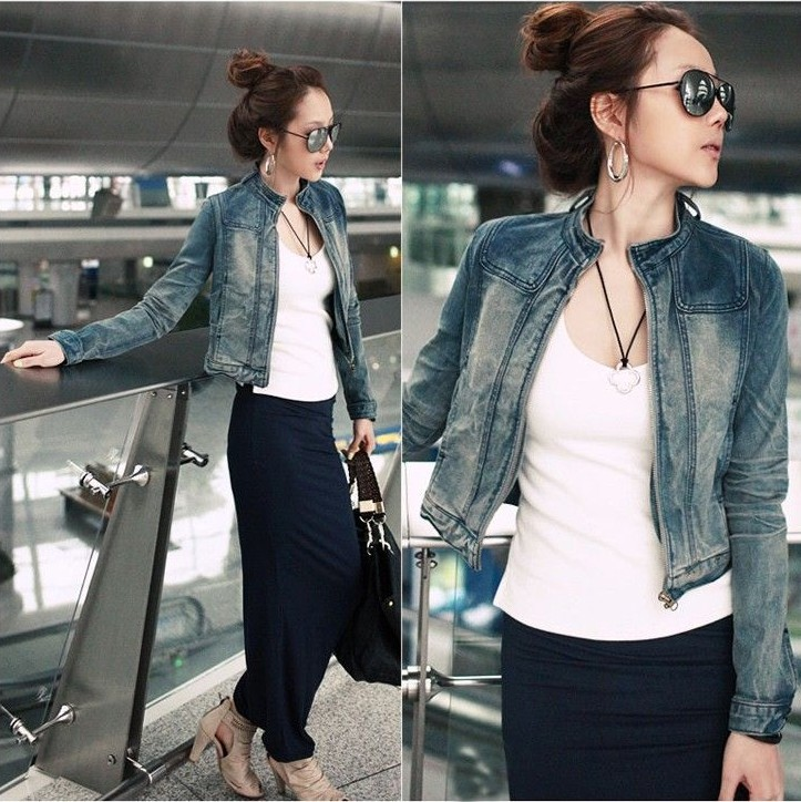 2013 Hot Sale Ladies Fashion Jean Short Coat Classical Fashion Jean Clothes I-9747(China (Mainland))