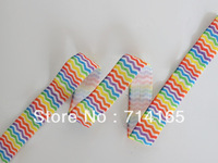 20 Yards Rainbow Chevron 5/8 Fold Over Elastic, FOE , Multi Color Foe Elastic, Print Foldover Elastic