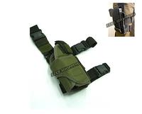 Tactical Drop Leg Pistol Holster Pouch Bag OD