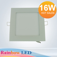 NEW free shipping 16W Square Panel Light 2835LED (80pcs)  AC85V~265C) 1600lm