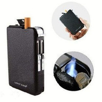 Free Shipping Wind Resistance Tobacco Cigar Lighter With Cigarette Case