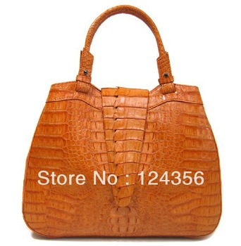 High-end Top-quality 100% Genuine Leather Crocodile Tote Genuine Leather Bags Manufacturer