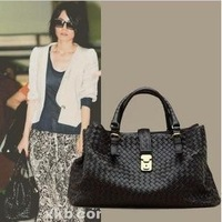 2013 European and American big wind Faye Wong same paragraph woven bag handbags street influx of people of child shoulder