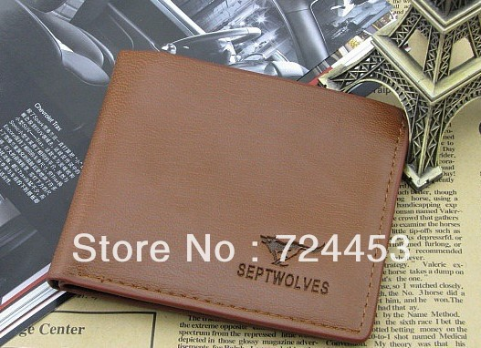 Fashion brand pouch wallet leather wallet mens wallet, classic pattern designer wallet high quality leather purse free shipping(China (Mainland))