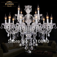 The European Light Crystal Light Chandelier Candle Light LED living room lamp bedroom lamp hall lighting Nordic IKEA chandelier