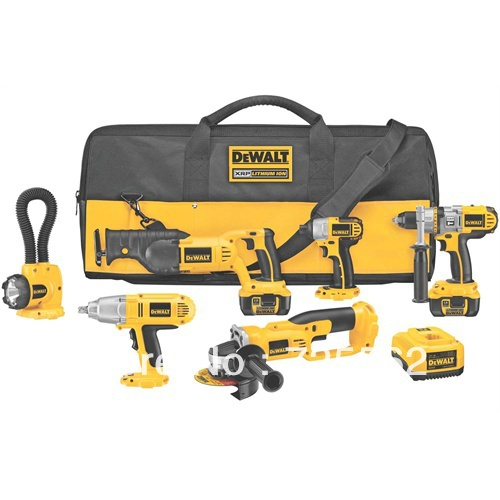 Top Selling!!! DeWalt DCK675L 18V Cordless 6-Tool Combo Kit Lithium DCD970 Drill Driver DC411(China (Mainland))