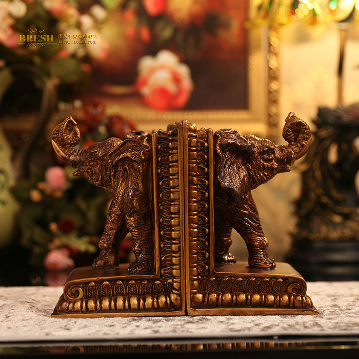 Free shipping Fashion vintage lucky resin book end book file home decoration crafts 0016(China (Mainland))