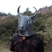 Fashion gangnam mask befriended wigs mask dog buffalo mask eco-friendly latex costume