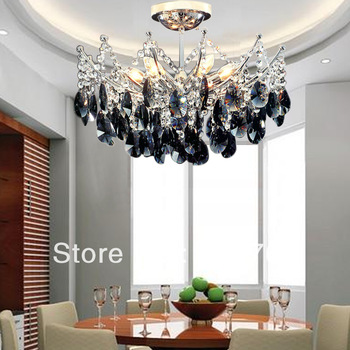 Modern fashion black crystal lamp crystal pendant light lamps Dia400mm