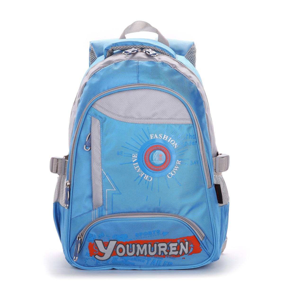 Primary school students school bag 1 - 3 male female child school bag wear-resistant 6082 double-shoulder relief(China (Mainland))