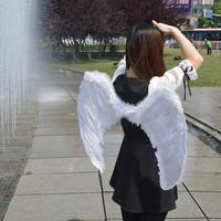 Feather ball white child dance black wings dance props devil costume