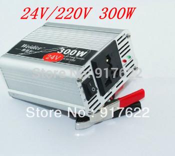 24V 220V DC to AC Car Power Inverter Adapter 300W Wholesale  vehicle-mounted inverter 12V to 220V free shipping