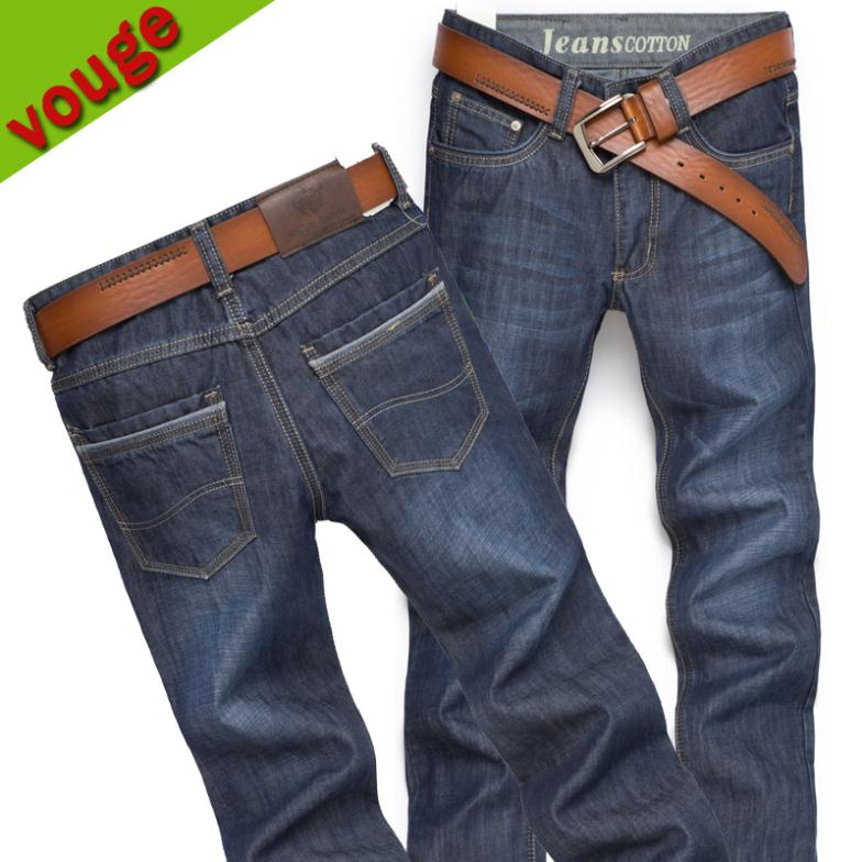 Free Shipping Hot-selling 2013 men's clothing jeans slim straight jeans male long trousers casual(China (Mainland))
