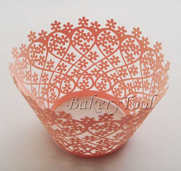 promotional light pink mini flower 60 pcs wedding cupcake wrappers muffin cases FREE SHIPPING(China (Mainland))
