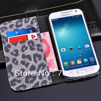 Leopard Grain Inner Card Holder Wallet Stand Leather Case for Samsung Galaxy Premier i9260, Mix Color, DHL Free Shipping