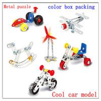 2013 New DIY Metal Assembled Static Car Model  3D Puzzles Classic Alloy decoration Action Figure Model Building