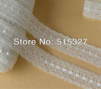 20 meters/lot  4CM Cotton  Ribbon Lace DIY Accessory White