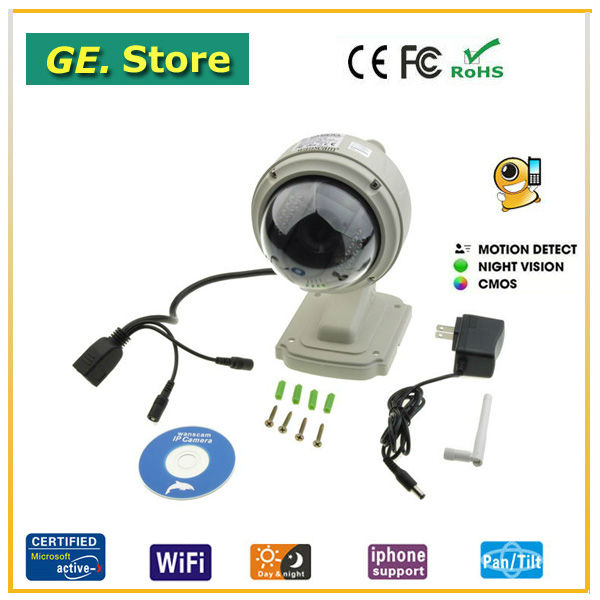Shenzhen Infrared PT Wifi IP Camera Support 3G&amp;Cellphone Remote View(China (Mainland))