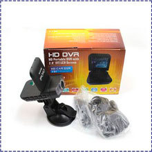 HK POST Free Shipping 2.0&quot; 720P 8 Exposed LED Portable Car Code DVR Camera Recorder H300(China (Mainland))