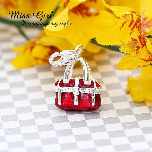Silveriness miss girl series classic kelly bag collection pendant(China (Mainland))