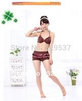 Free shipping 2013 Hot Floral style bikini female models split swimsuit three-piece steel Toby Bikini Ladies swimwear