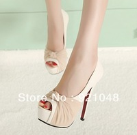 Free shipping 2013 princess utlra high-heeled shoes sexy platform t thin heels open toe women sandals