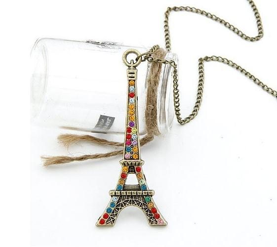 Min.order is $30(Mix-Order) Free Shipping trendy jewelry 2013 luxury eiffel tower pendant necklace(China (Mainland))