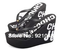 Free shipping Ultra high heels beach slippers summer wedges platform sandals flip flops women shoes