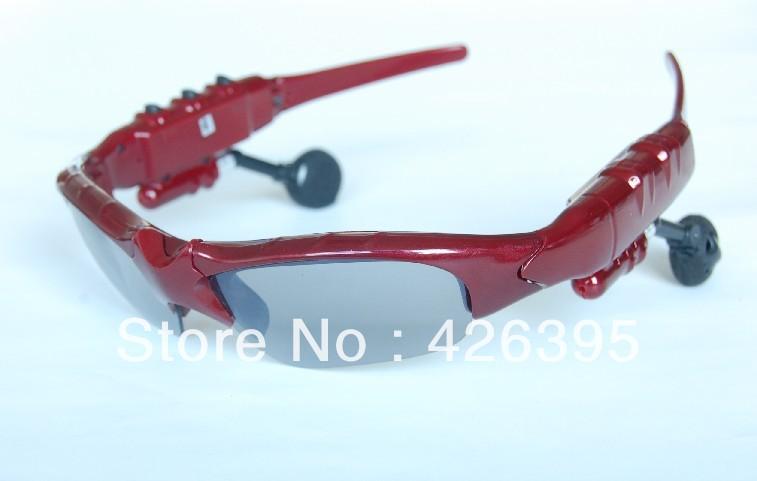 Wholesale - Sunglasses Mp3 Player - Sunglass 4GB Headset black silver(China (Mainland))