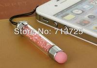 Rhinestone Diamond Capacitive Touch Screen Pen with Dust Plug, Stylus Pen For iPad iPhone HTC Samsung S2 S3, Dust Plug 50pcs/lot