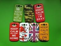 Galaxy S3 i9300 IMD Hard Case,wholesale cheap fashion Keep Calm Cover Case for Samsung Galaxy S3 SIII i9300