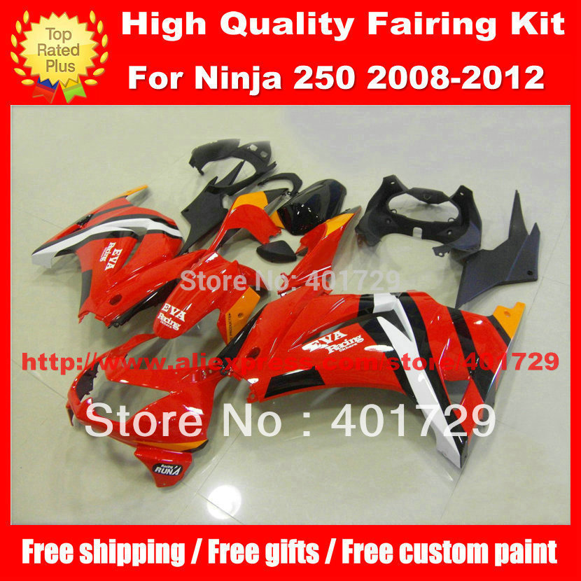 Free gifts motorcycle bodywork for Ninja ZX-250R ZX 250R ZX250R 2008 2009 2010 2011 2012 08 09 10 11 12 red racing fairing kit(China (Mainland))