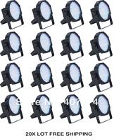 16X Lot Free Shipping RGBA/RGBW 144*10MM-Up light  Par 64-Mega Par 64