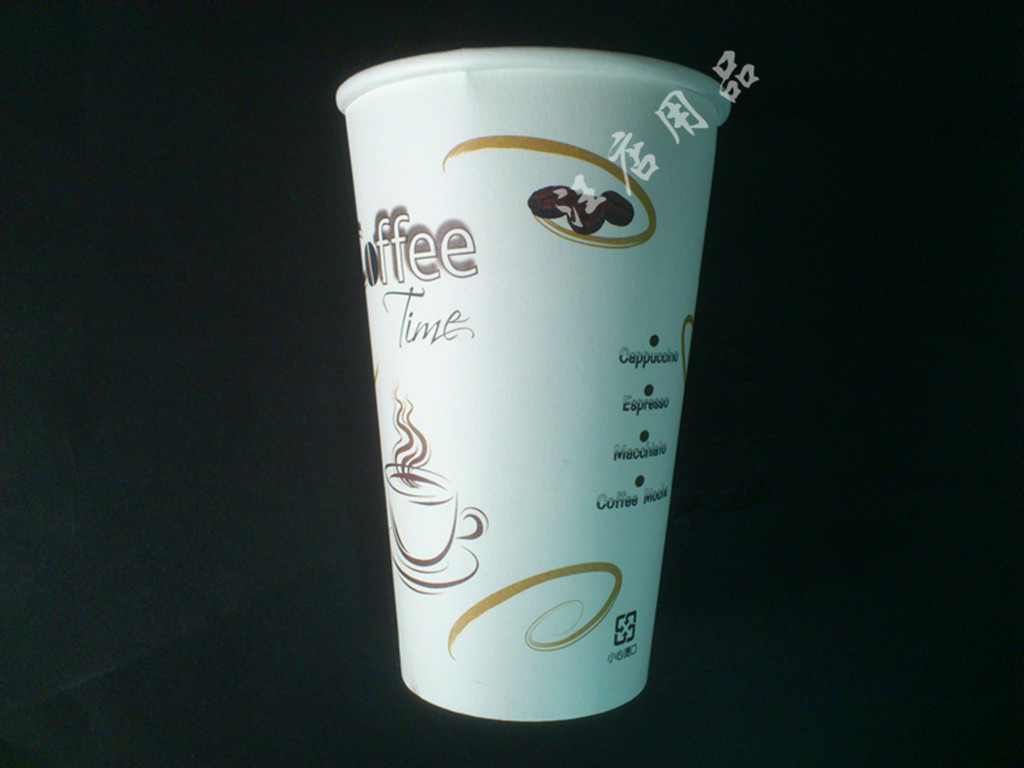 Free shipping, Wholesale (1000 pieces/lot) 16oz disposable paper 500ml coffee big fruit juice tea sand ice cup(China (Mainland))