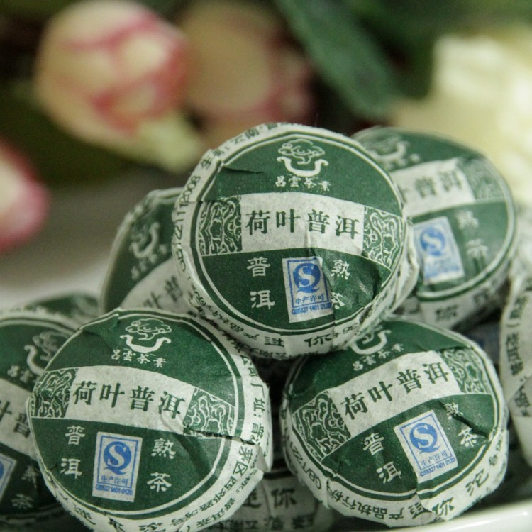 Free shipping!50pcs, Chang Yun Pu'er tea / super lotus leaf Mature tea mini Tuo tea lose weight beauty the stovepipe(China (Mainland))
