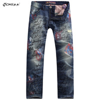 Joneaa 2013 New Collections True Brand Original Designer Jeans Hand-printed Color drawing water washed Hip hop jeans Luxury