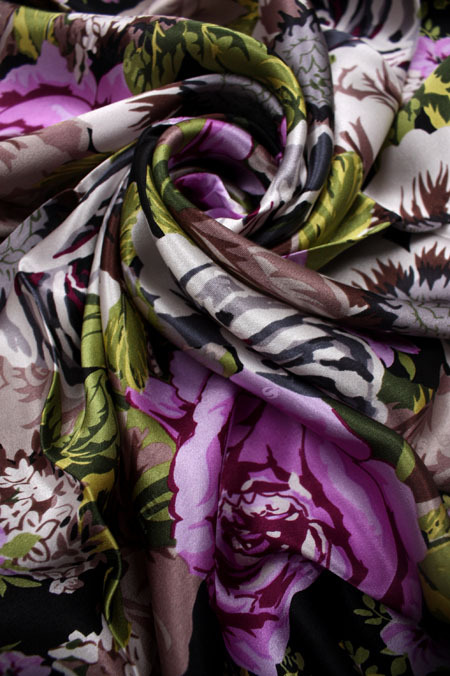 Thick silk jacquard logo flower scarf limited edition(China (Mainland))
