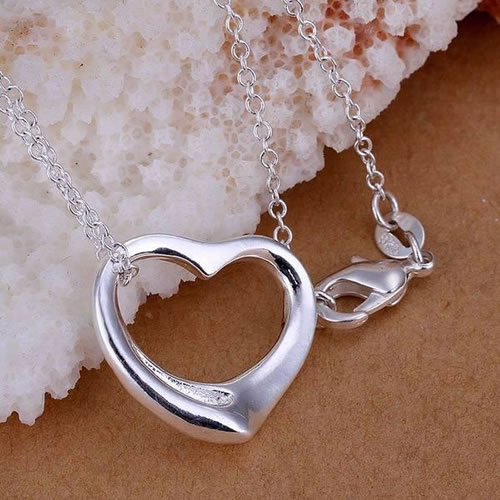 P063 fashion jewelry chains necklace 925 silver pendant In love and fall toop bief(China (Mainland))