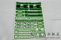 Free shipping, Car refires motorcycle KAWASAKI Small advertising stickers kawasaki letter stickers