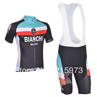 Any Way To Match!!! The Lowest Price! 2013 New BIANCHI Team Black&Blue pro Cycling Jersey / (Bib) Shorts-B129 Free Shipping!